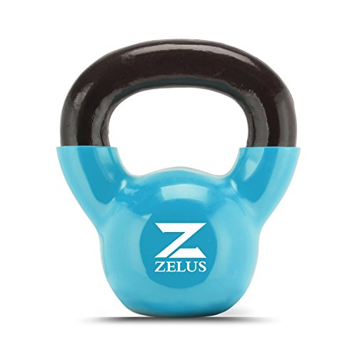 ZELUS Body Solid Cast Iron Kettlebell Set for Women/Men Workout (10)