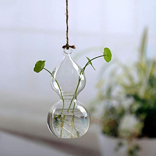 SLY フラワーポットガラス花瓶壁掛け植物テラリウムのコンテナ水耕栽培プランター透明なフラワーボトルホームデコレーションハンギング (色 : 2)
