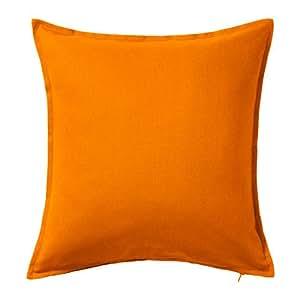ikea cushion throw pillow cover orange gurli 20 x 20 100 cotton with zipper 1. Black Bedroom Furniture Sets. Home Design Ideas