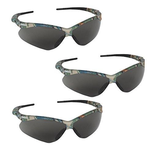 Jackson Safety V30 22609 Nemesis Safety Glasses 3020707 (3 Pair) (Camo Frame with Smoke Anti-Fog ()