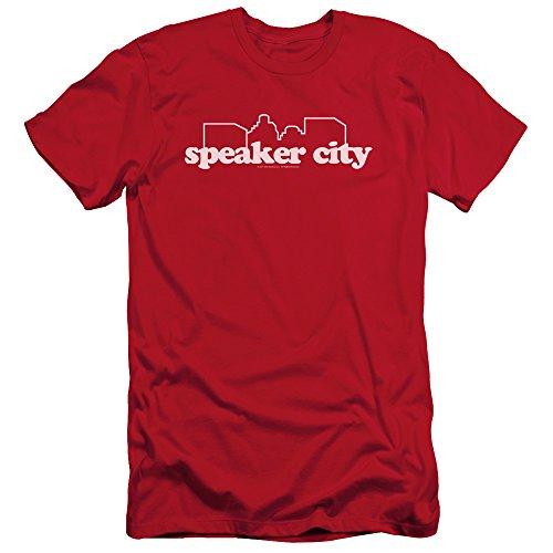 Old School College Frat Comedy Movie Speaker City Logo Adult Slim T-Shirt Tee -