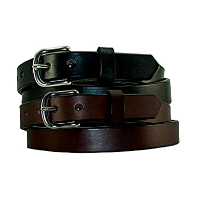 """1"""" Plain Smooth Leather Dress Belt by YourTack 100% USA Full Grain Leather Black Brown"""