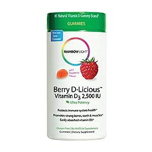 RAINBOW LIGHT Vitamin D3 2500 LU, Berry D Licious, 50 Count