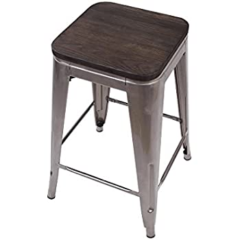 Amazon Com Dhp Fusion Metal Backless Counter Stool With
