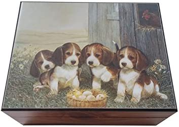 Amazon com: Amish Made Puppies Cedar Chest Box, 4