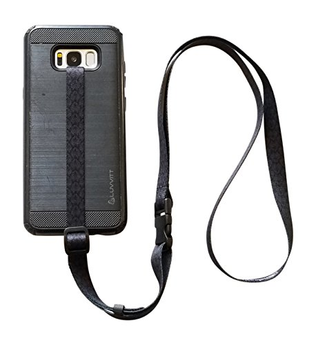 Cell Phone Wrist Strap - foneleash 3 in 1 Universal Cell Phone Lanyard Neck Wrist and Hand Strap Tether (Spade)