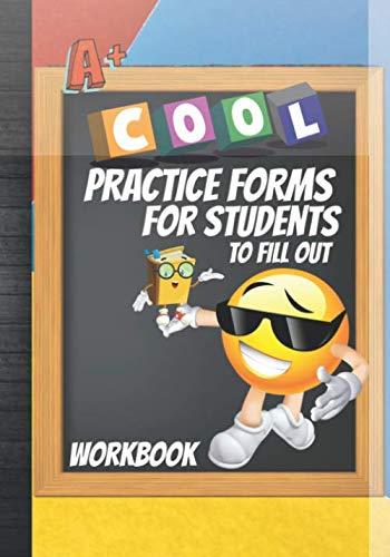 Practice Forms For Students To Fill Out Workbook: Emoji Homeschool Curriculum Kids Practice Life Skills Activities Forms: Employment, Insurance, ... Lease Agreement, Checks & Budget Sheets. (Life Skills For High School Students Worksheets)