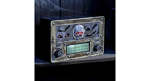 Haunted Radio Halloween Decoration and Prop, 11 3/4