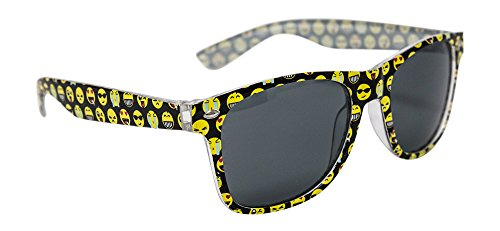 Emoji Sunglasses For Kids: (1) Pair of Children Sunglasses - Frame Designed With Popular Emoji Faces - Lifetime Replacement - Great For Pool Parties, The Beach, & Party Favors - - Spectacle Face For Oblong Frames