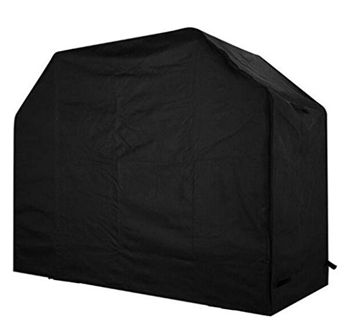 Heavy Duty BBQ Grill Cover, Kokome 800D 58Inch Windproof Waterproof Dustproof Breathable Sunscreen Gas Barbecue Cover All Weather Garden Patio Grill Protector(58 x 24 x 48inch Black) Review