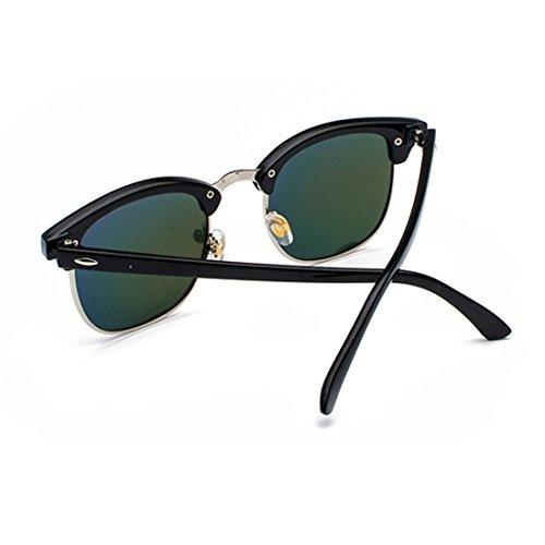 sol marco Oro y Gafas hombres Huicai Medio polarizados UV400 lentes Negro de retro Mujeres WIq1AZ01