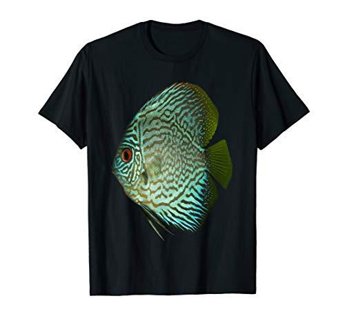 Aquarium T-shirt Blue Discus Tropical Fish
