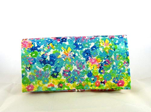 Coupon Organizer Holder Watercolor Floral Fabric ()