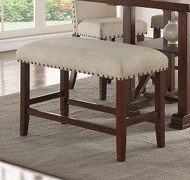 Poundex PDEX-F1549 Fiorella Solid Wood High Dining Bench
