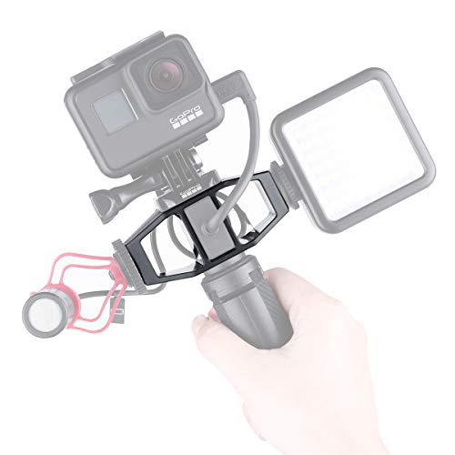 Vlogging Setup Bracket Mount for Osmo Action Gopro Hero 7 6 5 Sjcam EKEN Yi 4K Action Cameras,Action Camera Bracket Tripod Adapter with 1/4