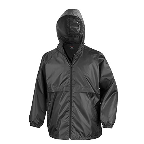 Result Mens Core Adult Windcheater Water Repellent Windproof Jacket (L) (Black)
