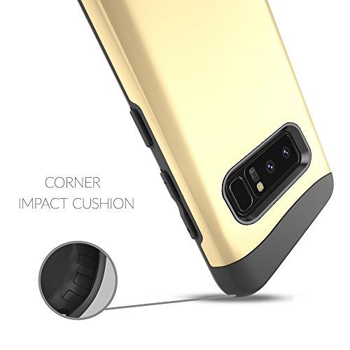 Galaxy Note 8 ケース 英国Snugg 'Infinity' シリーズ Galaxy Note 8用 ツーピースタイプ耐衝撃ケース 生涯補償付き(ゴールド)