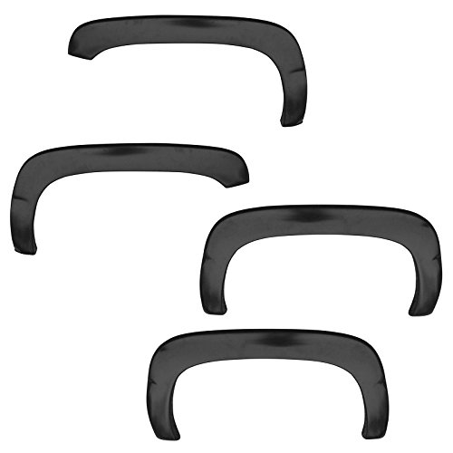 Fender Flare Kit Rugged OE Style Smooth Black Set of 6 for Tahoe Yukon