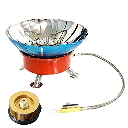 TOOGOO 4 Tipo Estufa A Prueba De Viento Estufa Utensilios De Cocina Quemadores De Gas para