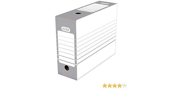 Elba Automontable 400064977 - Caja archivo definitivo automontable, color gris: Amazon.es: Oficina y papelería