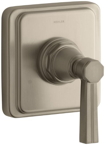 Bv Pinstripe Shower Faucet - KOHLER K-T13175-4B-BV Pinstripe Transfer Valve Trim, Lever Handle, Valve Not Included, Vibrant Brushed Bronze