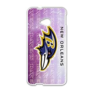 Happy NFL Super Bowl Baltimore Ravens Cell Phone Case for HTC One M7
