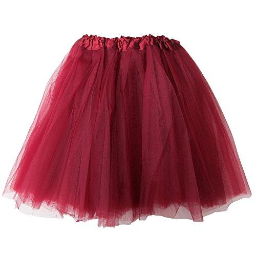 (Plus Size Adult Tutu-Princess Costume Ballet Warrior Dash 5K Run Running Skirt (Burgundy (Maroon)),Plus Size)