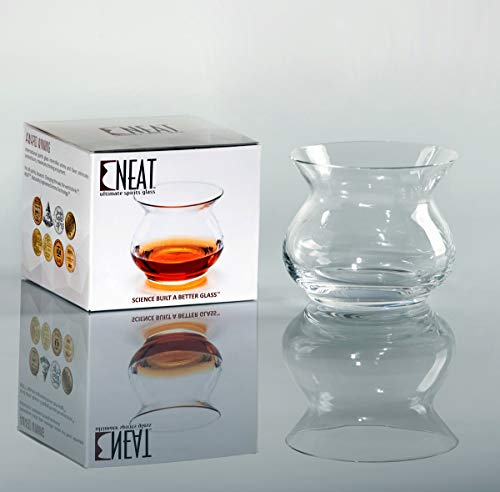 The NEAT Glass - Artisan Spirits Glass. Tasting, Nosing, and Aroma Enhancing Glass for: Whiskey, Scotch, Bourbon, Rum, Tequila and Gin (Imported Tequila)