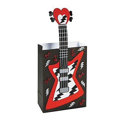 Valentine Classroom Sharing Guitar Rock Card Holder Craft (Valentines Day Card Holders)
