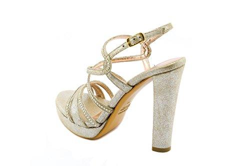 ALBANO - Sandalias de vestir de Piel para mujer Lux BEIGE