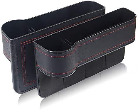 GLOBALDREAM Universal Auto Seat Gap Organizer Aufbewahrungsbox Konsole Seitentasche Ledersitz Spalt Aufbewahrungsbox f/ür Brieftasche Telefon M/ünzen Zigarettenschl/üssel Karten Tassen