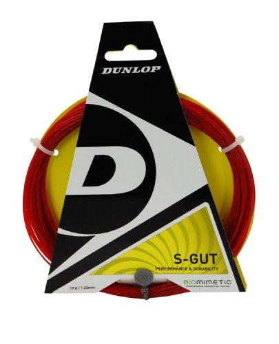 Gut Tennis String Set (Dunlop Sports S Gut  Tennis String Set (16G, Red))