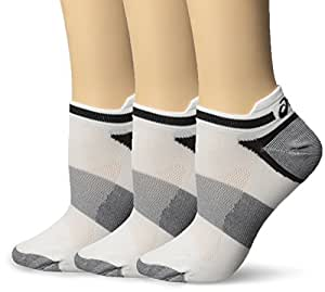 Asics Quick Lyte Single Tab Ultra-Light Running Socks - 3-Pack - Men's White, L