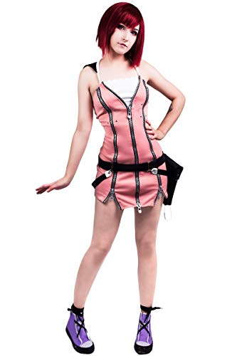 DAZCOS US Size Kairi Women's Cosplay Costume (Women S) Pink