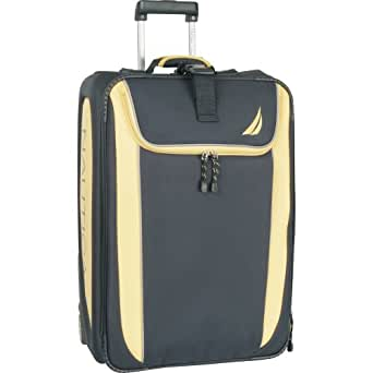 Nautica Luggage Spinnaker 28 Inch Expandable Upright Bag, Navy/Yellow, One Size