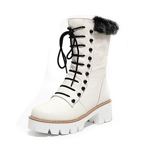 Botas calf Boots SevenMid Nine blanco mujer Cqvtxn