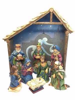 Enesco Miracle In The Manger-Eight Piece Nativity Set