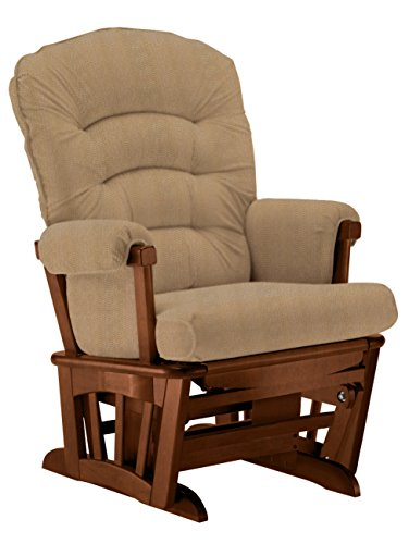 Shermag Extra-wide Glider Chair, Chestnut/Snazzy by Shermag