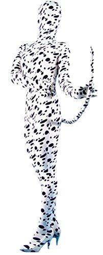 [Marvoll Lycra Spandex Spotted Dog Bodysuit Zentai Costume With Tail (Medium, Spot)] (Female Bodysuit Costumes)