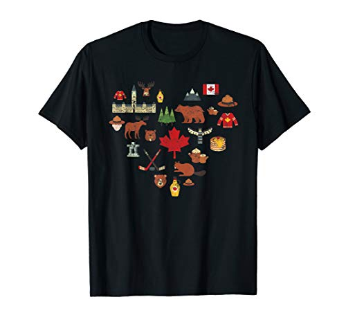 Canadian Vintage Symbols Canada Flag Maple Leaf RCMP T - Canada Moose
