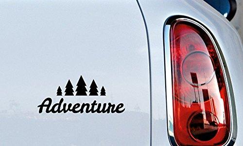 Adventure 5 Tree Car Die Cut Vinyl Decal Bumper Sticker for Car Truck Auto Windshield Wall Window Ipad Tablet Macbook Laptop Computer Home Custom and More (Black)