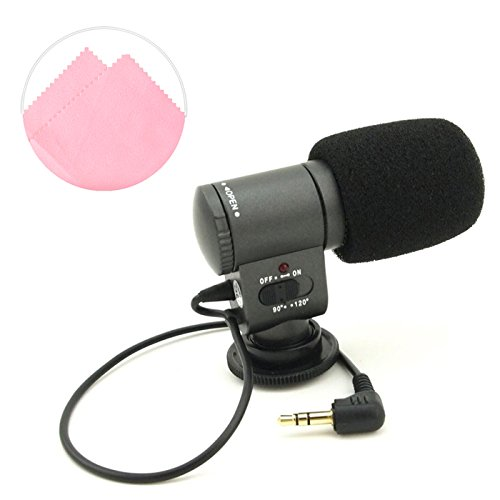 First2savvv SG-109 condenser shotgun stereo microphone mic fits any DV& DSLR camera with microphone hole and path -Nikon D7000 D90 D5100 D5000 D3100 D3000 D700 D300s D3X D3S D800 D800E D3200 D4 D600 D5200 COOLPIX P7100 COOLPIX P510 COOLPIX L310 COOLPIX L810 COOLPIX P520 COOLPIX L820 Film SLR Camera F6 D7100 COOLPIX L320 D610 D810 D4S D750 D5500 LEICA S LEICA S-E LEICA LEICA V-LUX LEICA S 2 D3300 COOLPIX L830 /L330 /P600 /P530 with pink screen Cleaning Cloth
