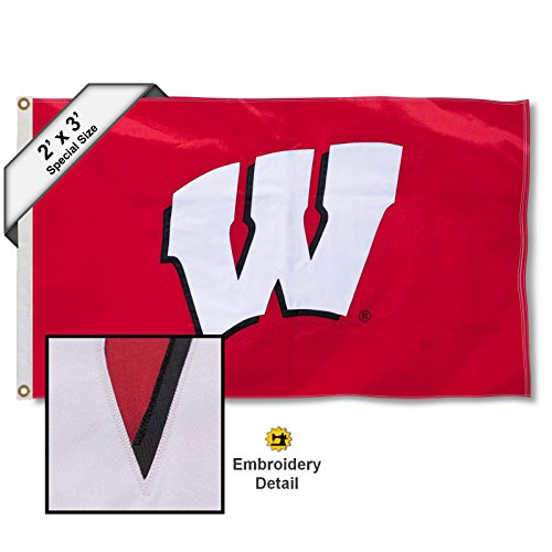 (College Flags and Banners Co. Wisconsin Badgers 2x3 Foot Embroidered Flag)