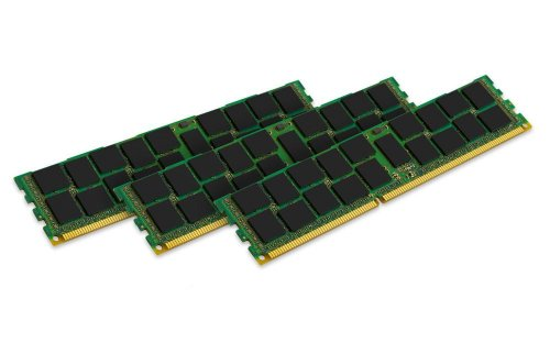 Kingston Technology 24 GB Kit (3x8 GB Modules) 1333MHz DDR3 PC3-10600 240-Pin Reg ECC DIMM for Select HP/Compaq Servers KTH-PL313K3/24G by Kingston Technology
