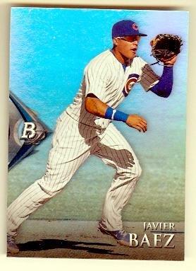 Javier Baez Baseball Card Chicago Cubs 2014 Topps Bowman Platinum