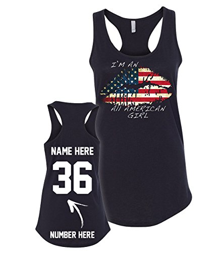 All American Girl - Custom 4th of July Tank Tops & Jerseys - Patriotic American Flag T Shirts & Outfits ()