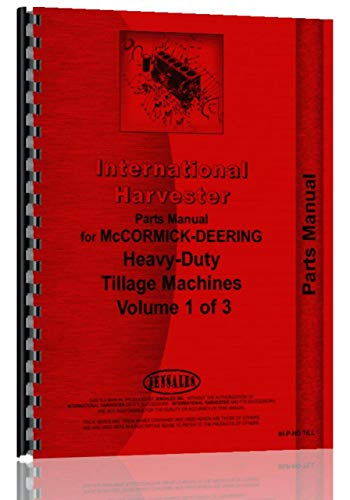 - International Harvester 3 Tool Bar Attachment Parts Manual