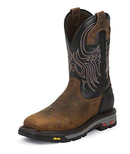 (Justin Mens Commander X5 Steel Black Boots 14D)