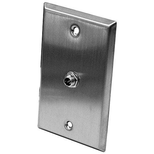 (Seismic Audio SA-PLATE16 Stainless Steel Wall Plate with One 1/4-Inch TS Mono Jack)