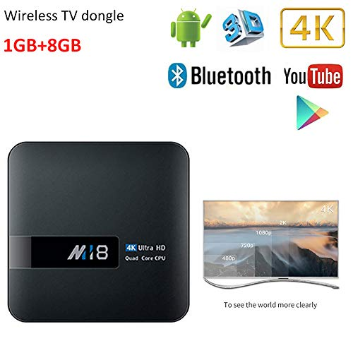 WXJHA Smart Android TV Box Android 7.164Bits Quad-Core 1G RAM 8G ROM Support 4K HDMI 2.0 TV Dongle Set Top Box